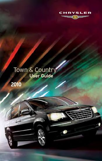 download 2010 chrysler town country get to know guide. Black Bedroom Furniture Sets. Home Design Ideas