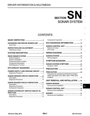 i2 2014 nissan frontier sonar system (section sn) pdf manual (27 solar system wiring diagram at readyjetset.co