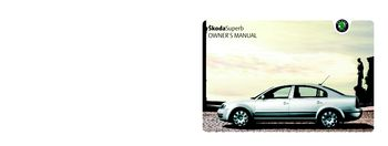 2004 koda superb owner s manual pdf 259 pages rh carmanuals2 com Skoda Superb L&K Skoda Superb Pakistan