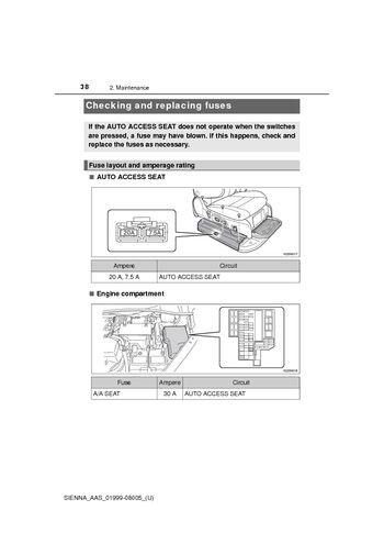 2015 toyota sienna maintenance pdf manual 5 pages rh carmanuals2 com  2015 toyota sienna fuse box location