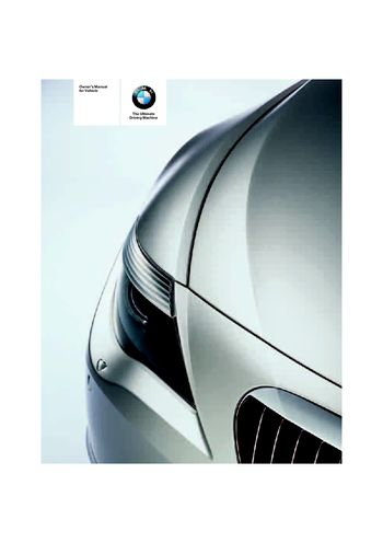 2006 bmw 650i coupe convertible owner s manual pdf 242 pages rh carmanuals2 com 2006 bmw m6 owners manual.pdf 2006 bmw 650i service manual