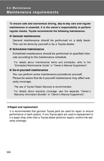 2010 Toyota RAV4   Maintenance (6 Pages)