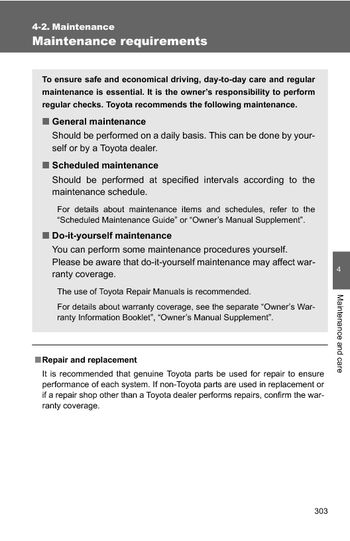 2009 Toyota Camry Maintenance Pdf Manual 6 Pages Rh Carmanuals2 Com Toyota  Prius Maintenance Requirements 2011