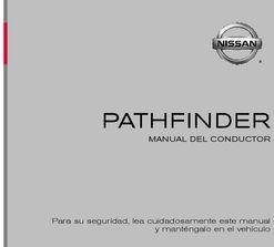 manual nissan pathfinder 2015 español
