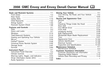 2008 gmc envoy denali owners manual