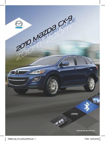 2010 mazda cx 9 smart start guide pdf manual 16 pages. Black Bedroom Furniture Sets. Home Design Ideas