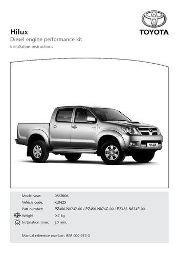 download 2006 toyota hilux diesel engine performance kit. Black Bedroom Furniture Sets. Home Design Ideas