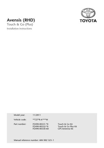 toyota touch 2 manual pdf