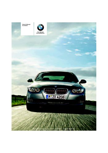 bmw 335i owners manual 2009