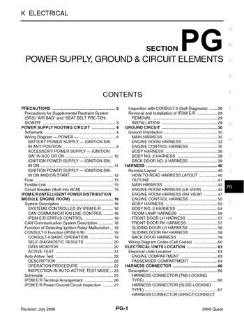 2006 nissan quest power supply ground circuit elements 2006 nissan quest power supply ground circuit elements section pg 74 pages