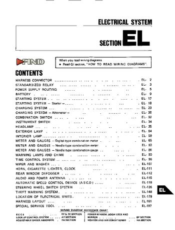 1987 nissan 300zx - electrical system (section el) (199 pages)