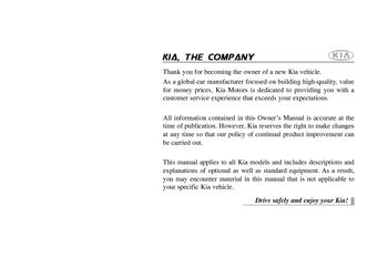 2012 Kia Sedona Owner S Manual Pdf 370 Pages