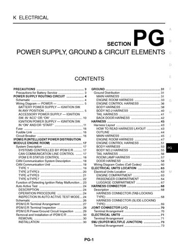 i2 2003 nissan 350z power supply, ground & circuit elements diagram of 2007 nissan 350z fuse box at fashall.co