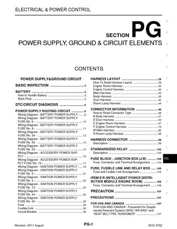 2012 nissan 370z - power supply, ground & circuit elements (section pg) -  pdf manual (112 pages)  carmanuals2.com