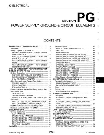 i2 2003 nissan altima power supply, ground & circuit elements 2003 nissan altima fuse diagram at gsmportal.co