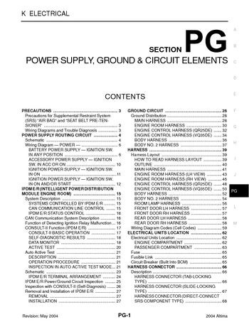 i2 2004 nissan altima power supply, ground & circuit elements 2015 nissan altima fuse box diagram at soozxer.org