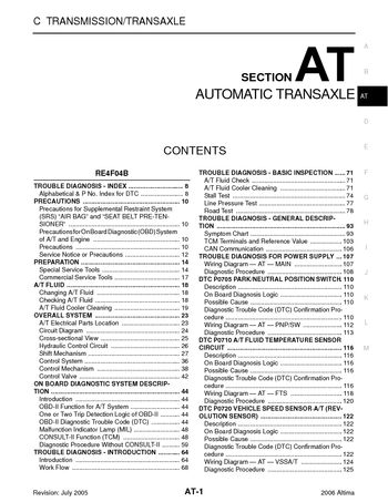 2006 nissan altima automatic transmission section at pdf 2006 nissan altima automatic transmission section at 708 pages