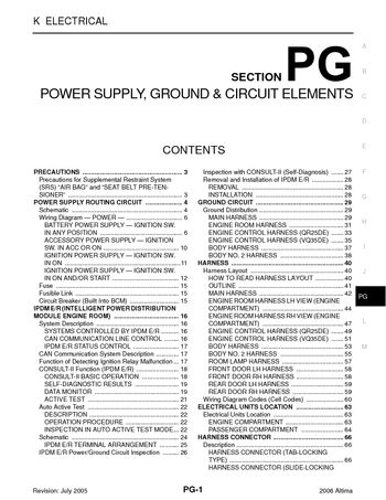 i2 2006 nissan altima power supply, ground & circuit elements 2006 nissan altima fuse diagram at n-0.co