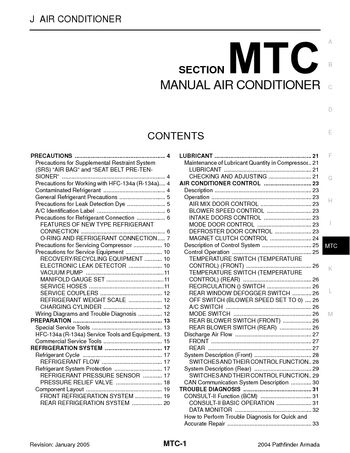 2004 nissan armada manual air conditioner section mtc pdf 2004 nissan armada manual air conditioner section mtc 154 pages