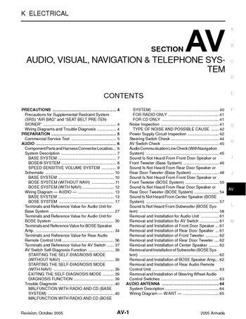 2005 nissan armada audio visual system section av pdf manual 2005 nissan armada audio visual system section av 174 pages
