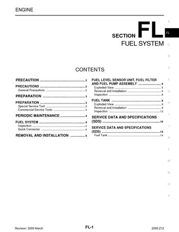 2009 nissan cube - fuel system (section fl) (14 pages)