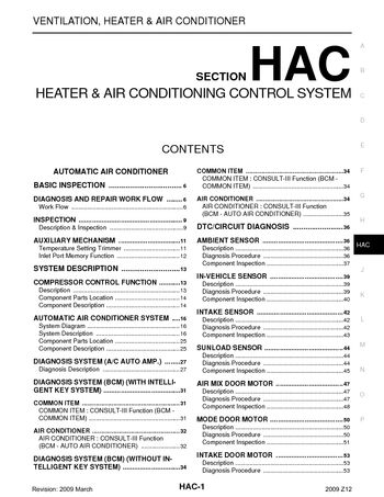 2009 nissan cube - heater & air conditioning control system (section hac) -  pdf manual (286 pages)  carmanuals2.com