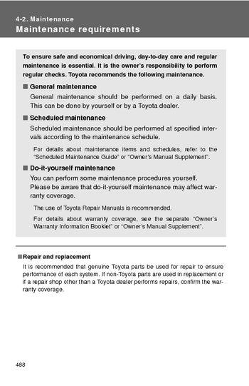 2013 toyota highlander maintenance pdf manual 7 pages rh carmanuals2 com toyota scheduled maintenance guide camry toyota scheduled maintenance manual