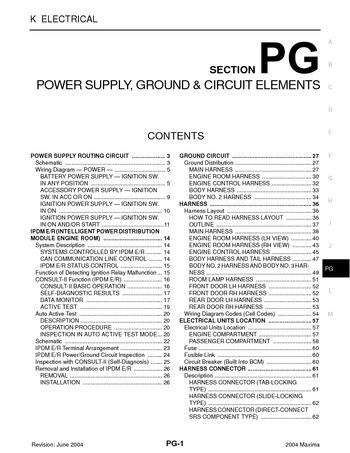 2004 nissan maxima - power supply, ground & circuit elements (section pg) -  pdf manual (68 pages)  car manuals