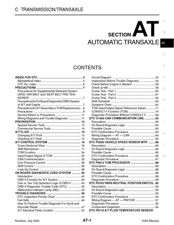 2005 nissan maxima automatic transmission section at pdf 2005 nissan maxima automatic transmission section at 316 pages