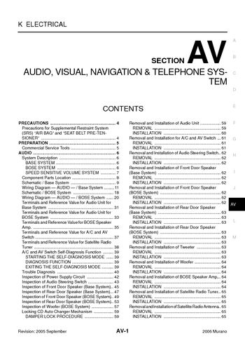 alfa romeo navigation wiring diagram with Murano 2006 Audio Visual System Section Av 48713 on 2000 Toyota Celica Electrical Wiring Diagram Pdf as well Murano 2006 Audio Visual System Section Av 48713 besides Lancia Lybra 1999 2005 Bezpieczniki Schemat furthermore BMW M50 B25 Engine Intake Manifold Seal Gasket 292028174418 as well File Alfetta front suspension.