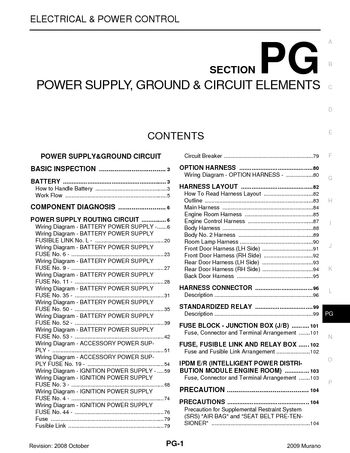 i2 2009 nissan murano power supply, ground & circuit elements 2009 nissan murano fuse box diagrams at n-0.co