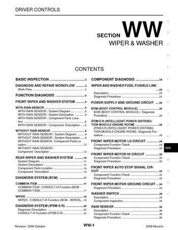 2009 nissan murano - wiper washer (section ww) - pdf ... 09 nissan murano fuse diagram #14