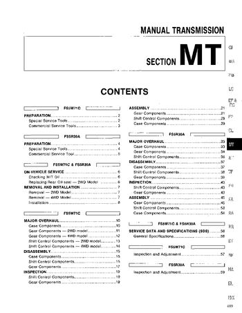 xterra factory service manuals nissan xterra forum xterra Nissan Repair Manual 96 Nissan Pickup Service Manual