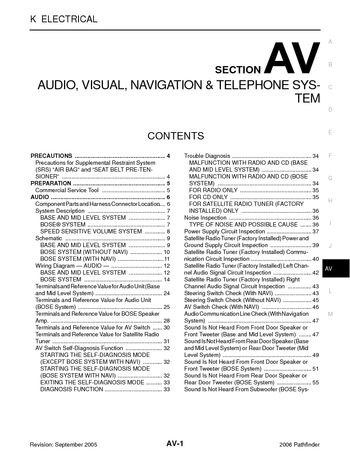 i2 2006 nissan pathfinder audio visual system (section av) pdf 2006 nissan pathfinder wiring diagrams at bayanpartner.co