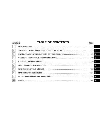 2006 chrysler sebring sedan owner's manual pdf (300 pages).