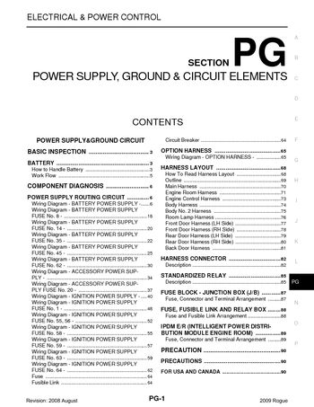 2009 Nissan Rogue - Power Supply, Ground & Circuit Elements (Section PG) -  PDF Manual (94 Pages)Car Manuals
