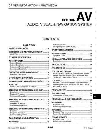 i2 2010 nissan rogue audio visual system (section av) pdf manual,2015 Nissan Rogue Wiring Diagram