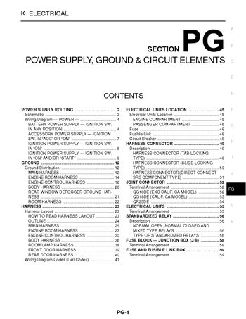 2002 nissan sentra power supply ground circuit elements rh carmanuals2 com