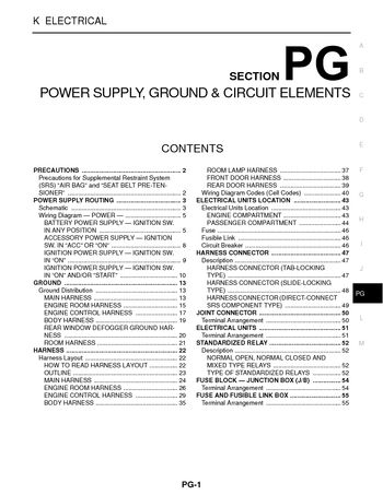 nissan sentra power supply ground circuit elements 2004 nissan sentra power supply ground circuit elements section pg 56 pages