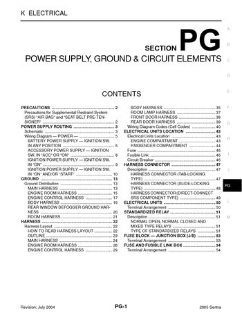 2005 nissan sentra power supply, ground \u0026 circuit elements2005 nissan sentra power supply, ground \u0026 circuit elements (section pg) (54 pages)