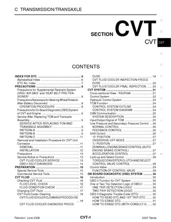 i2 2007 nissan versa transmission transaxle (cvt) pdf manual (212 nissan versa wiring diagram at eliteediting.co