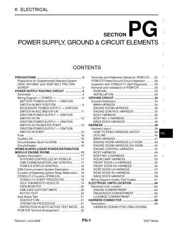i2 2007 nissan versa power supply, ground & circuit elements 2007 nissan versa fuse box diagram at n-0.co