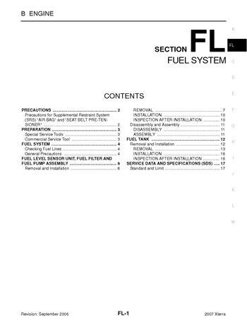 xterra fuel filter
