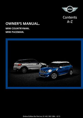2014 mini countryman owners manual how to and user guide rh taxibermuda co mini countryman owners manual uk 2013 2013 mini cooper countryman service manual