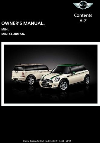 2014 Mini Clubman Owners Manual Mini Connected Pdf 276 Pages