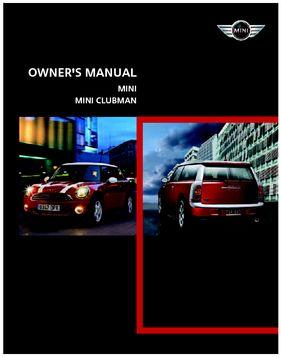2008 mini clubman owners manual pdf 164 pages 2008 mini clubman owners manual 164 pages sciox Choice Image