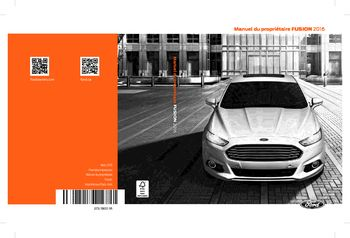 ford fusion manuel du proprietaire  french