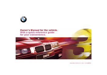 1998 bmw 323i e36 owner s manual pdf 179 pages rh carmanuals2 com bmw 323i repair manual pdf bmw 323i owner's manual