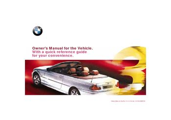 2000 bmw 323ci convertible owner s manual pdf 199 pages rh carmanuals2 com 2000 bmw 323i repair manual pdf 2000 bmw 323i owner's manual