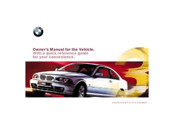 2001 bmw 325ci coupe owner s manual pdf 203 pages rh carmanuals2 com 2001 BMW 330Ci Convertible Parts 2001 BMW 325Ci Custom